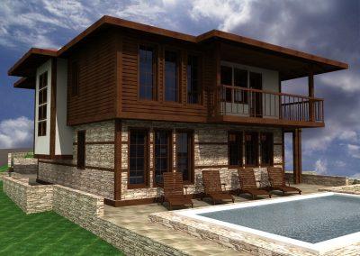 Затворен комплекс къщи с басейни с. Драгичево