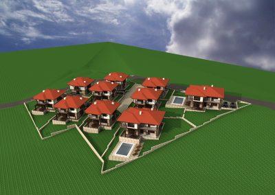 Затворен комплекс къщи с басейни с.Драгичево