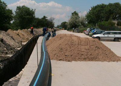 Изпълнение на магистрален водопровод ф540 – 500 м