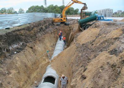 Изпълнение на магистрална канализация ф1200 – 300 м
